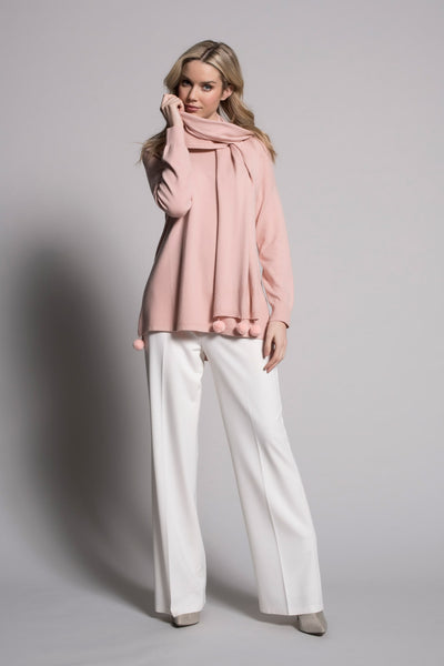 full outfit with white wide leg pants by picadilly