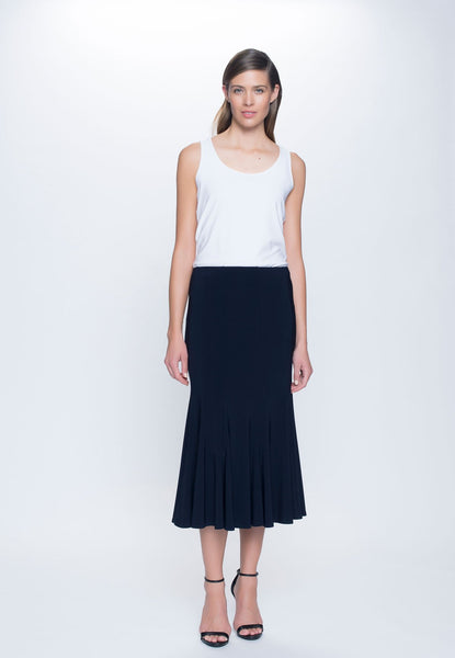Pull-On Flare Skirt in deep navy by Picadilly Canada