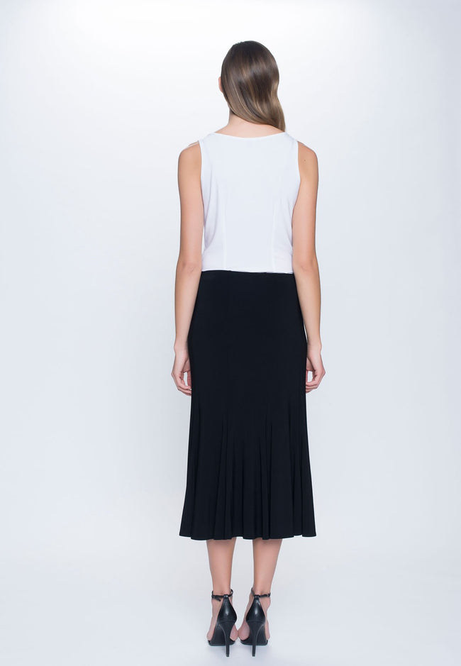 back view of the Pull-On Flare Skirt in black by Picadilly Canada
