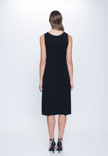 back view of A-Line Dress in black by Picadilly canada