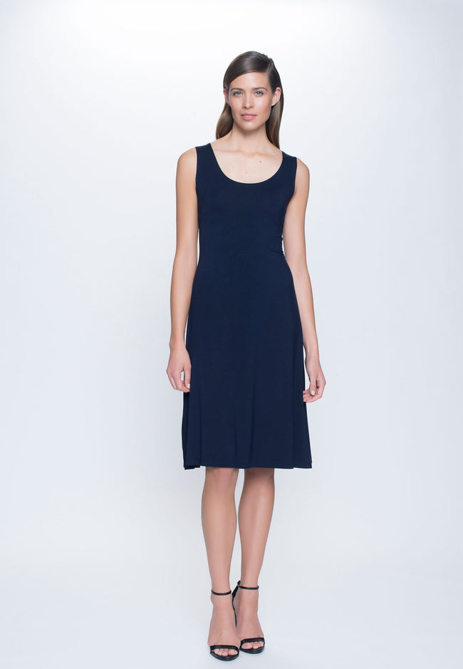 A-Line Dress in navy by Picadilly canada