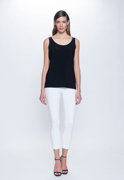 outfit of Scoop Neck Tank in black by Picadilly canada