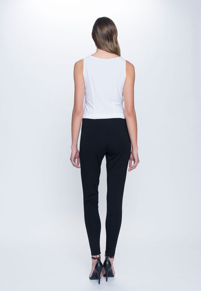 back view of outfit featuring Pull on Leggings in black by Picadilly Canada