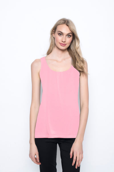 Scoop Neck Tank in coral by Picadilly canada