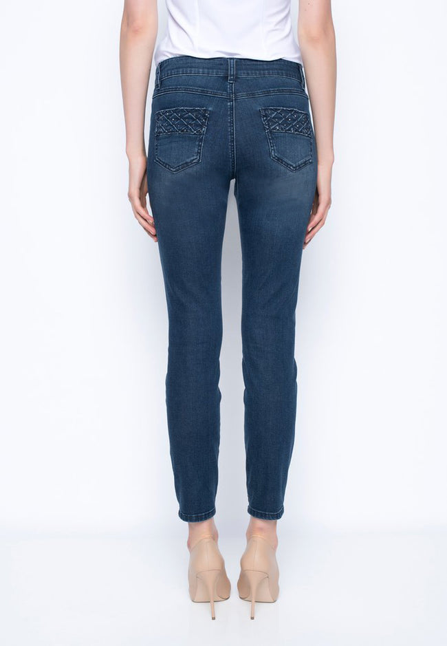 Ankle Length Denim With Pocket Detail Jeans