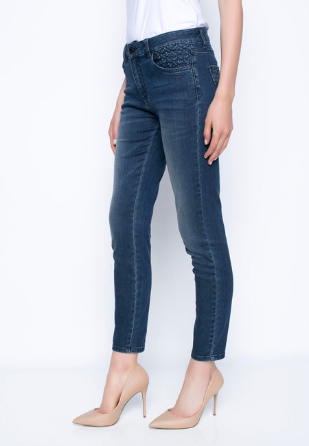 Denim Jeans with Embellished Cuff Detail