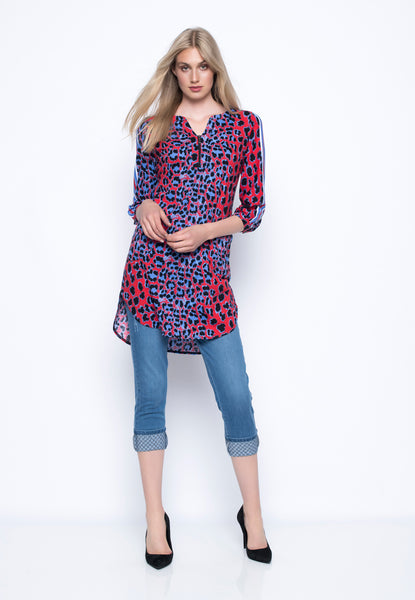 Curve Hem Tunic With Pockets