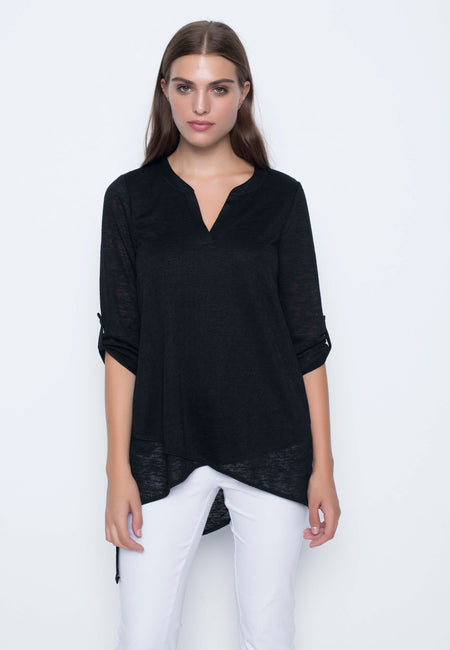 Side Pocket Top With Button Detail