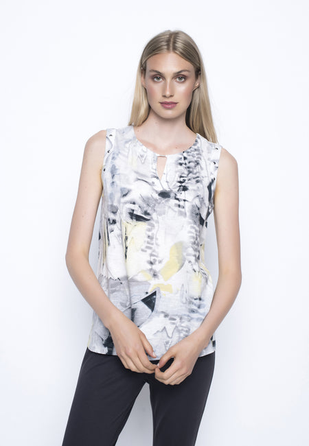Three Quarter Sleeve Top With Side Slits