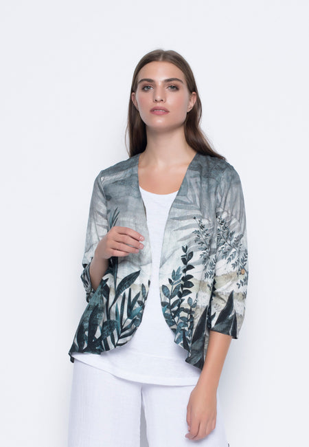 Rib Trim Bomber Jacket