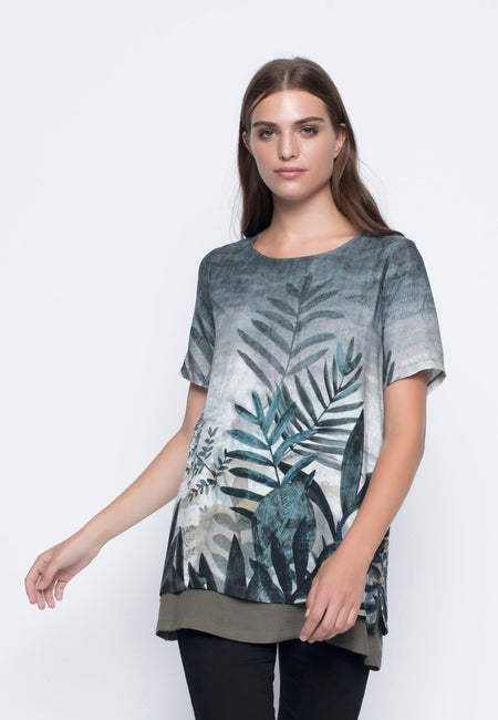 ¾ Sleeve Custom Print Top
