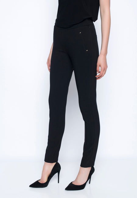 Stud Embellishment Ankle Length Pant