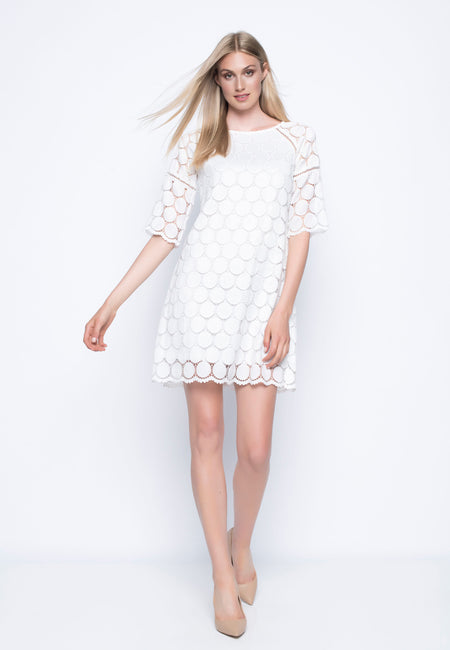 Eyelet Embellished Dress