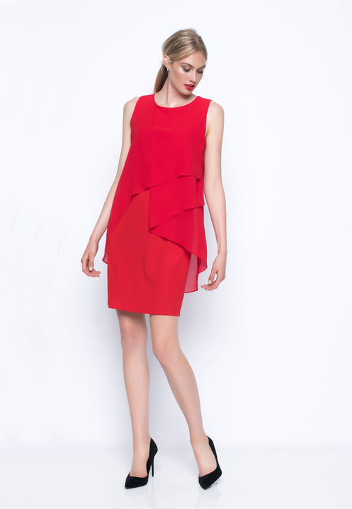 Sleeveless Chiffon Layered Dress