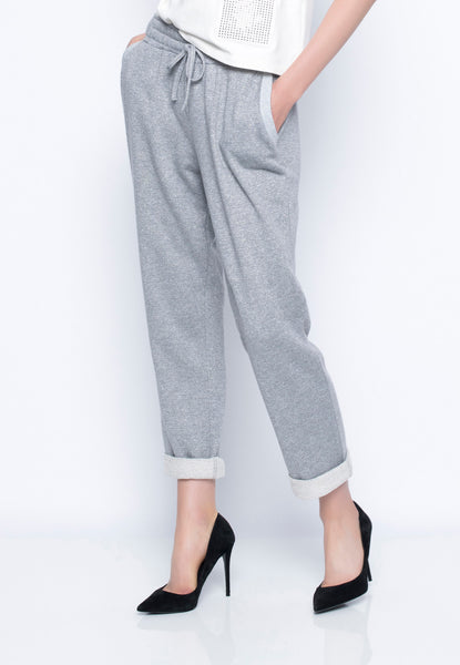 Rib Trimmed Pants With Pockets