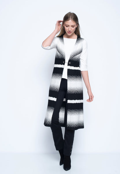Long Vest with Back Slit