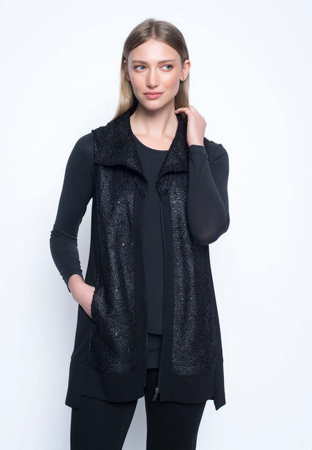 Open Front Jacket With Buttons