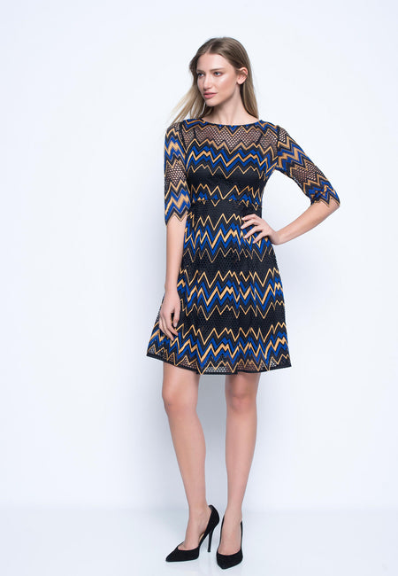 V-Neck Ruffle Sleeve Dress