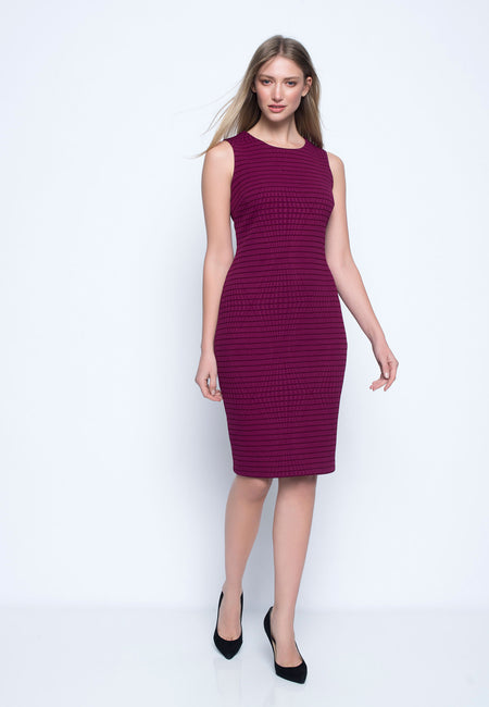 Keyhole Long Panelled Dress
