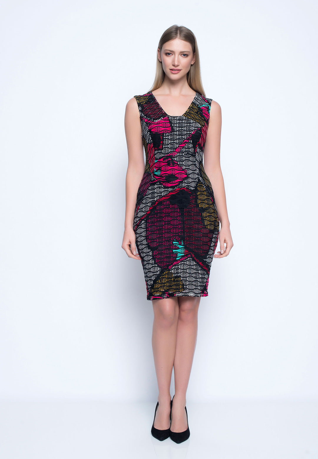 b31dd33e1e Sleeveless Fitted Dress - Floral Patterns – Picadilly Canada