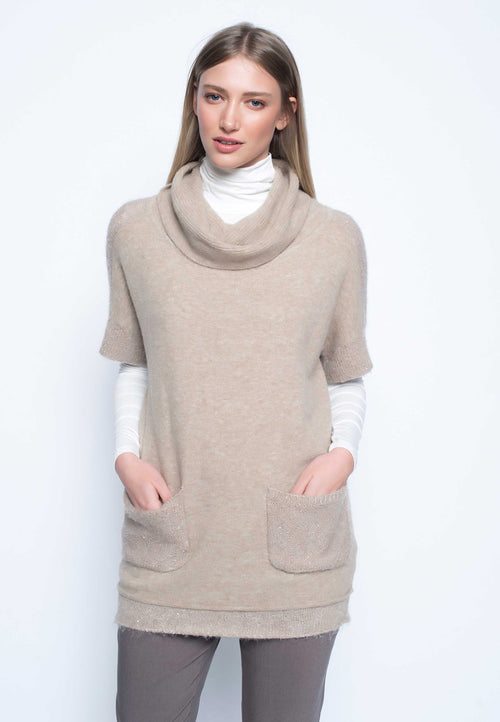 Sequin Trimmed Sweater Tunic