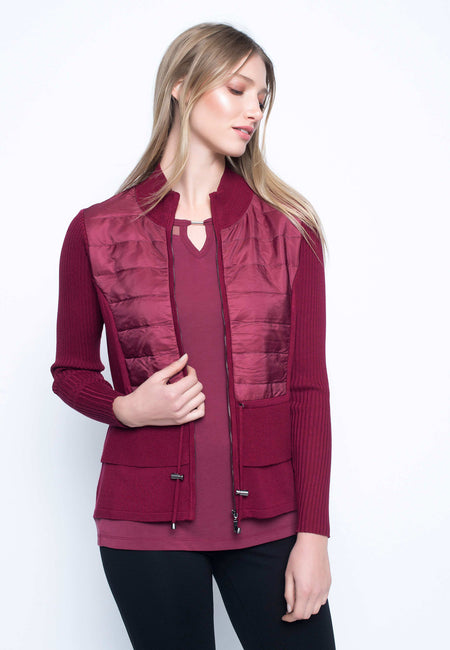 Button-Front Collar Jacket