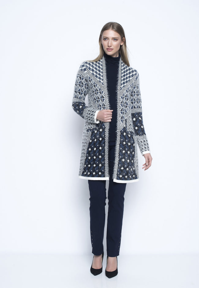 Long Sleeve Jacquard Sweater Jacket