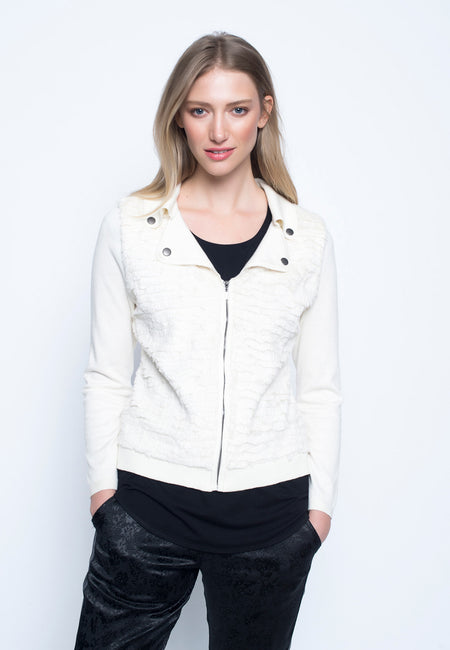 Ruffle Trim Jacket