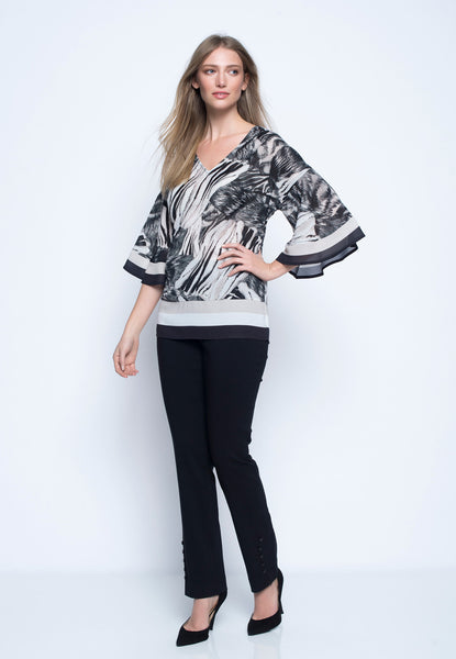 V-Neck Drop Shoulder Tunic