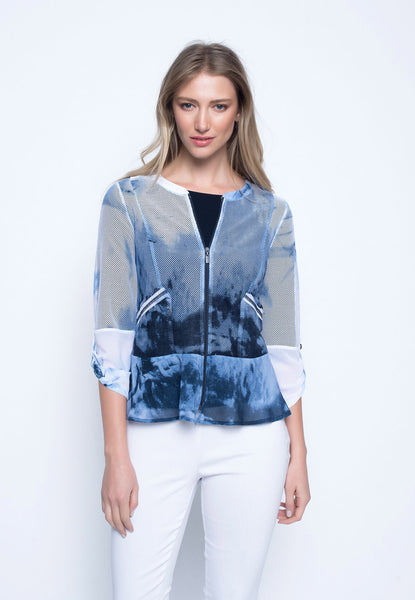 Zip-Front Ruffled Jacket