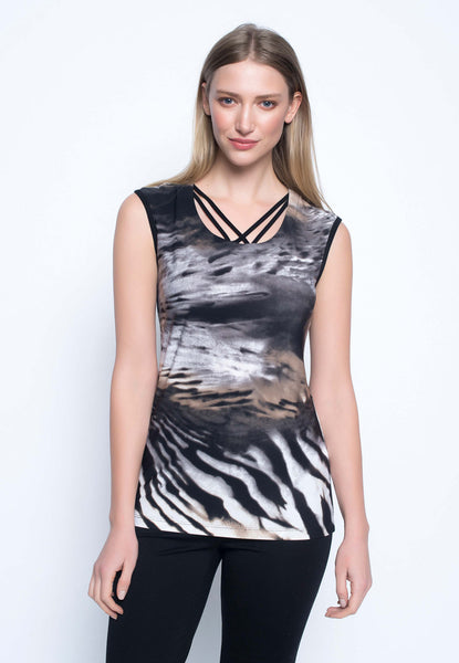 Tank With Strap Neckline