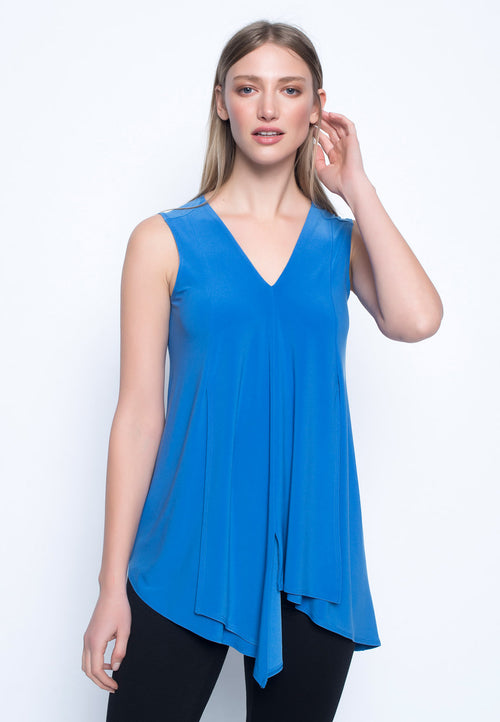 Sleeveless Draped Tank