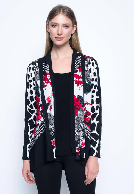 Zip Front Jacket With Stand Collar