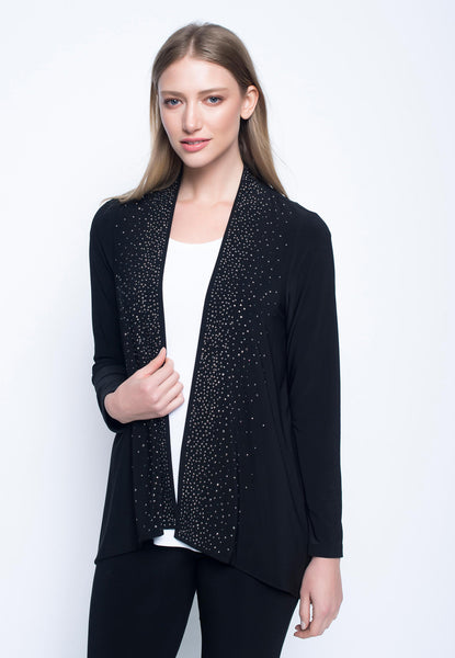 Embellished Open Front Jacket