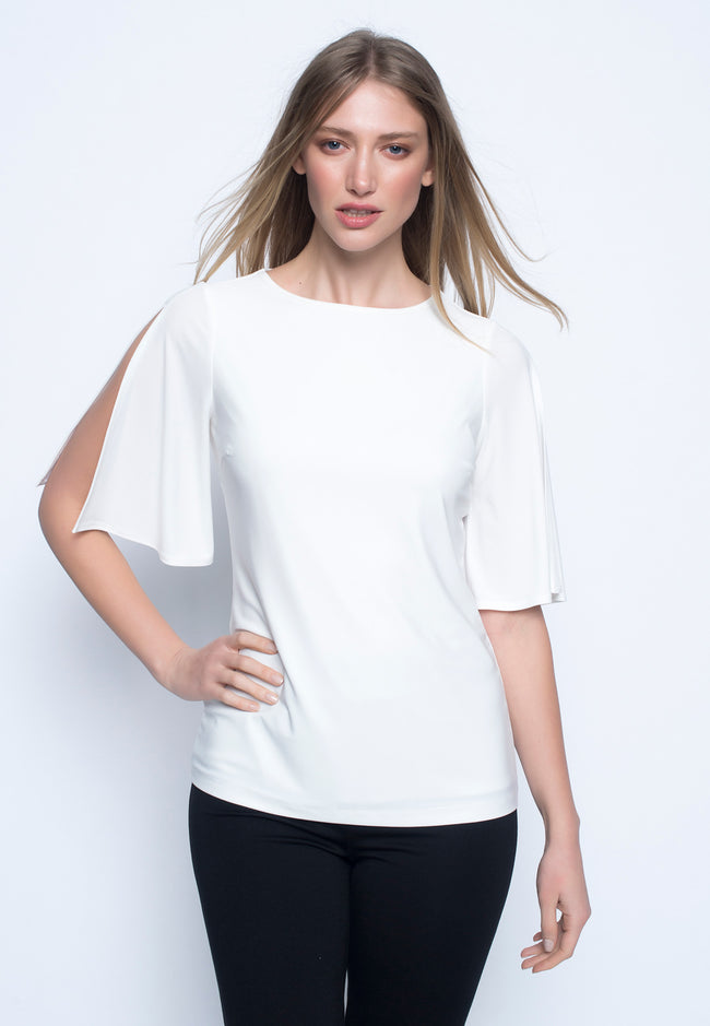Slit Sleeve Top