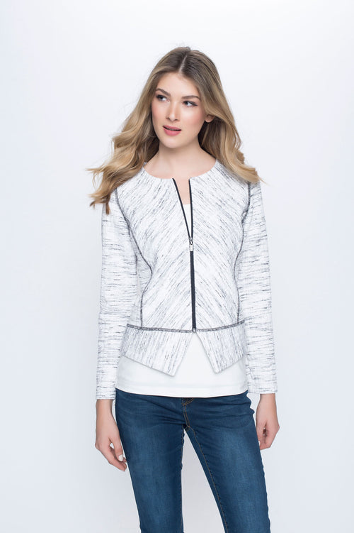 Princess Seam Zip Front Jacket