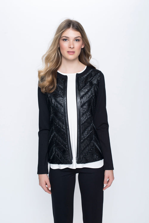 Chevron Zip Front Jacket