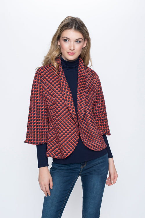 One Button Bell Sleeve Jacket