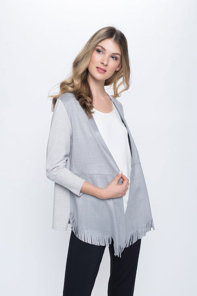 Faux Suede Fringed Jacket