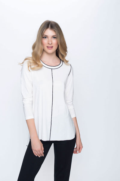 Long Sleeve Tunic with Contrast Stitch