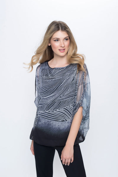 Cutout Shoulder Blouson Top