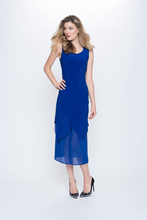 Sleeveless Asymmetrical Chiffon Hem Dress