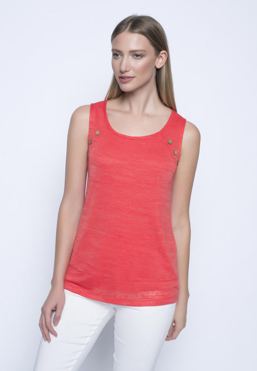 Button Detail Tank Top