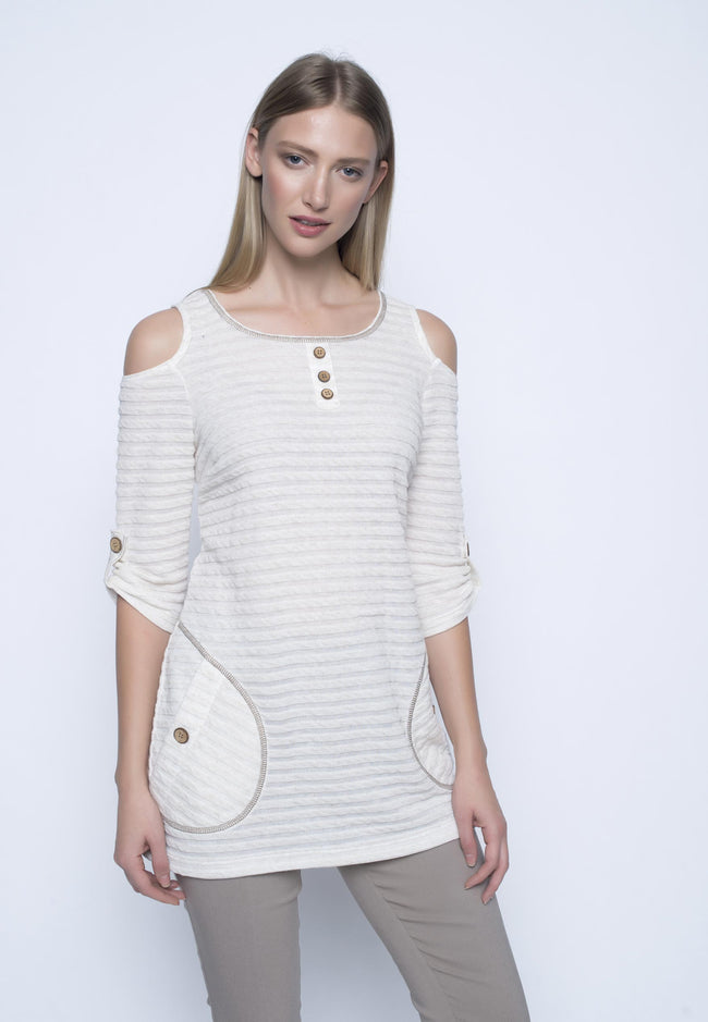 Cut Out Shoulder Tunic