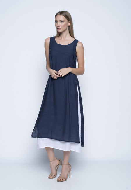 Sleeveless Dress With Strap Detail