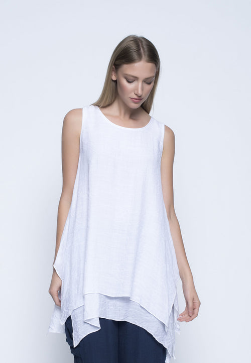 Layered Sleeveless Tunic