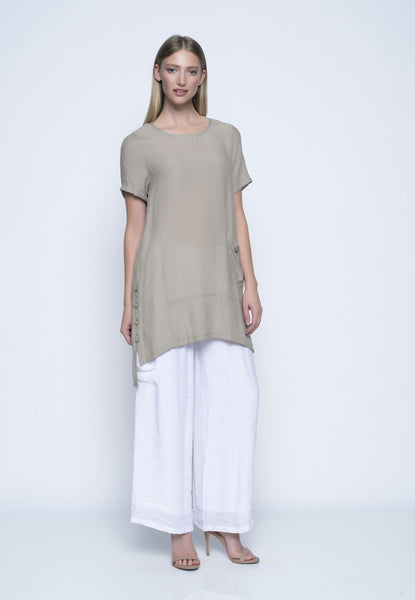 Short Sleeve Tunic With Side Slit