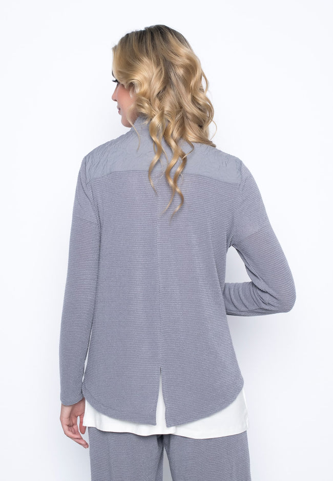 back view of the Zip Front Stand collar Jacket by Picadilly Canada