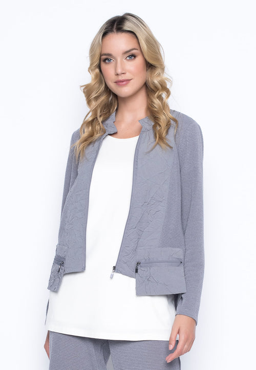 Zip Front Stand collar Jacket by Picadilly Canada