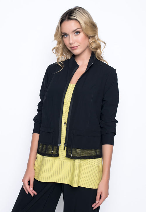 Zip-Front Jacket With Stand Collar by Picadilly Canada